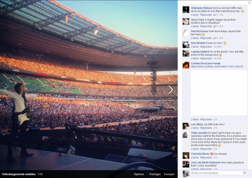 Instagram The Struts stade de france the rolling stones