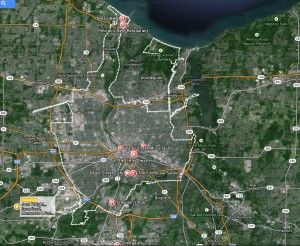 Rochester music venues Maps