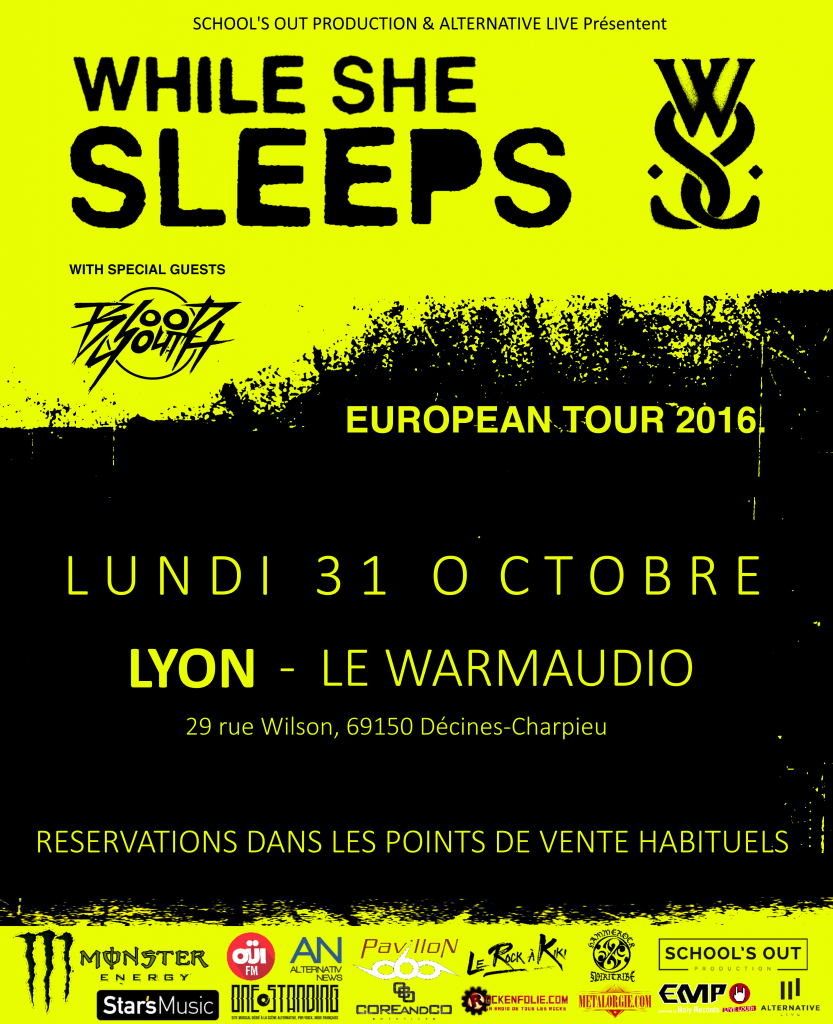 while she sleeps blood youth lyon warmaudio school's out prod