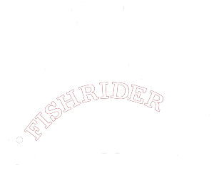 fishrider records white logo