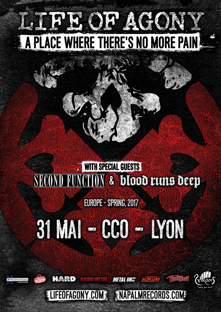 blood runs deep second function life of agony mediatone CCO lyon one standing live report
