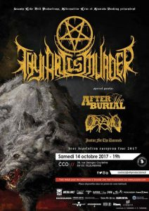 thy art is murder after the burial Oceano justice for the damned CCO lyon sounds like hell productions