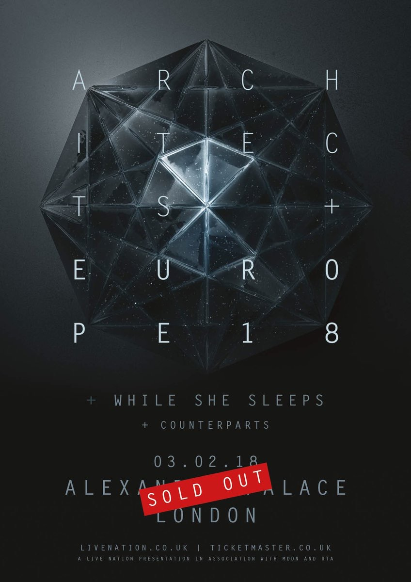 architects while she sleeps counterparts Alexandra palace London live nation one standing live report