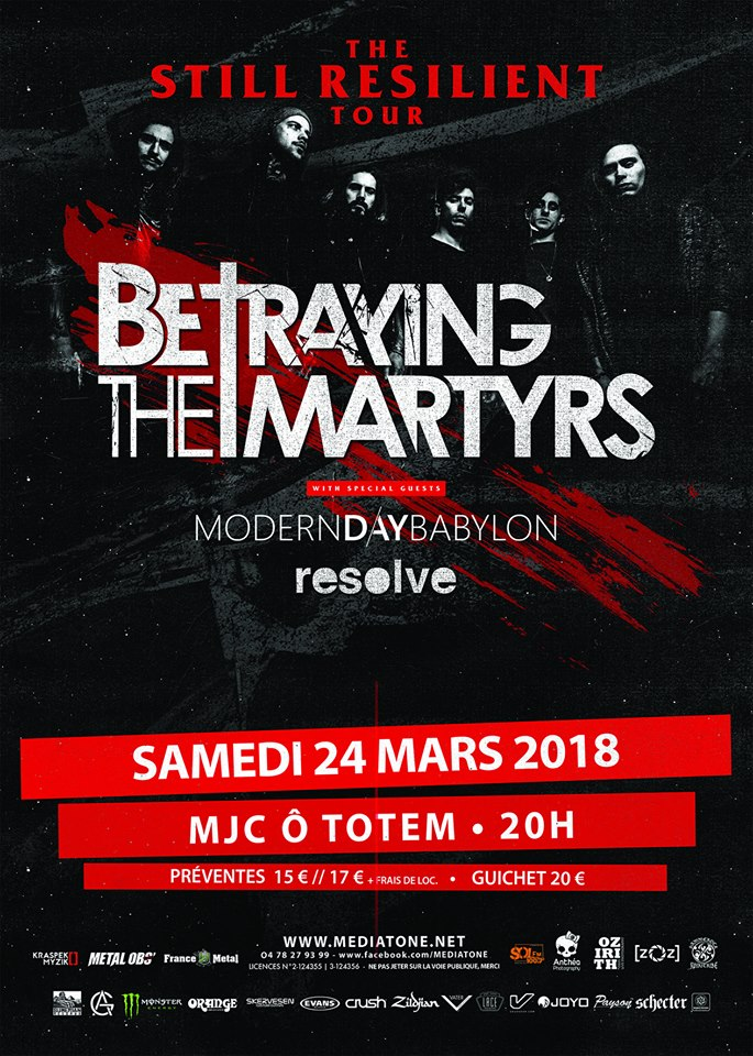 betraying the martyrs resolve modern day babylon from sorrow to serenity mediatone lyon MJC ô totem one standing live report