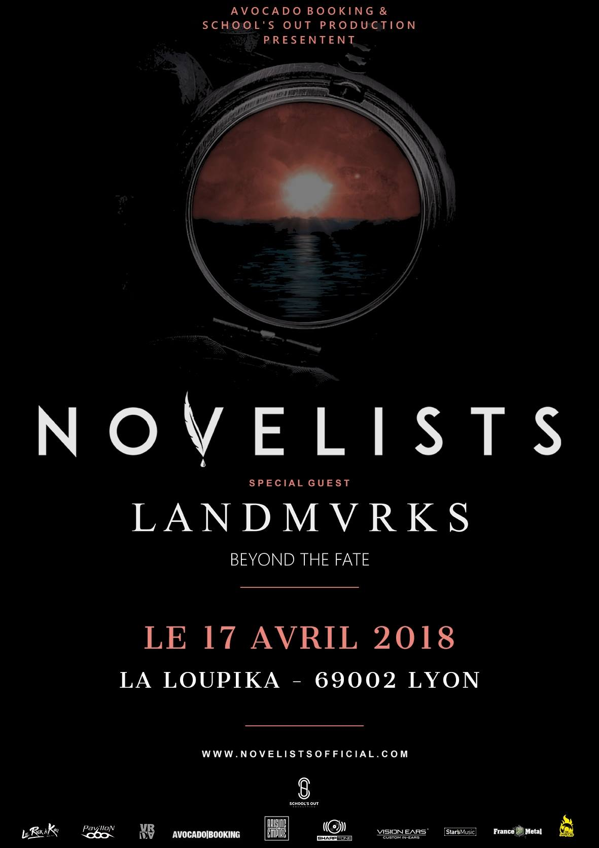 novelists landmvrks beyond the fate Peniche Loupika school's out production lyon one standing live report
