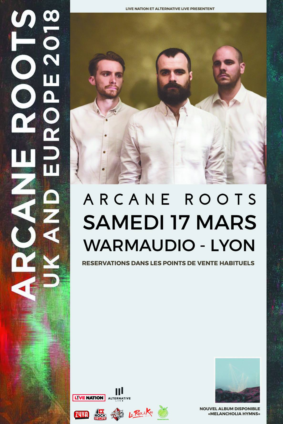 arcane roots warmaudio lyon alternative live sounds like hell productions one standing live report