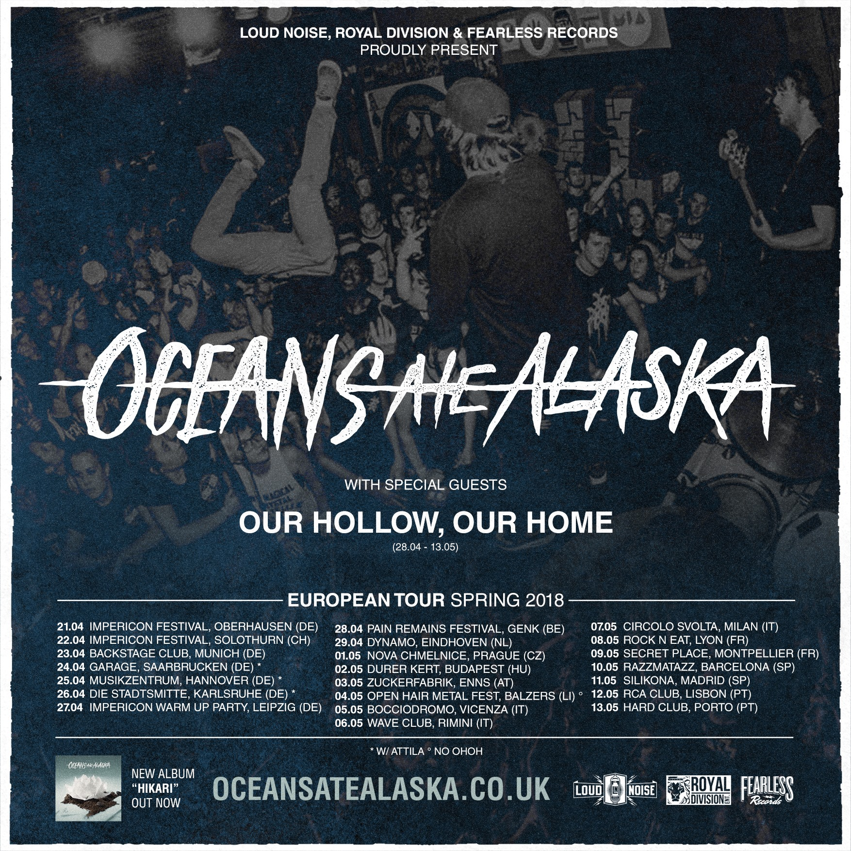 oceans ate Alaska our hollow our home resolve rock'n'eat lyon urgences sonores one standing live report