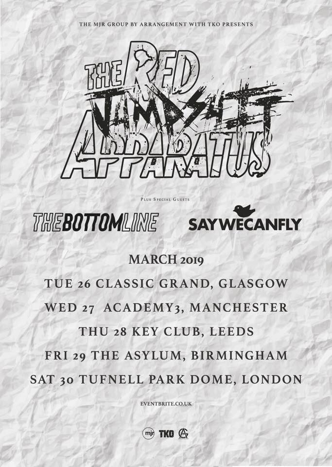 saywecanfly the bottom line the red jumpsuit appratus UK tour 2019