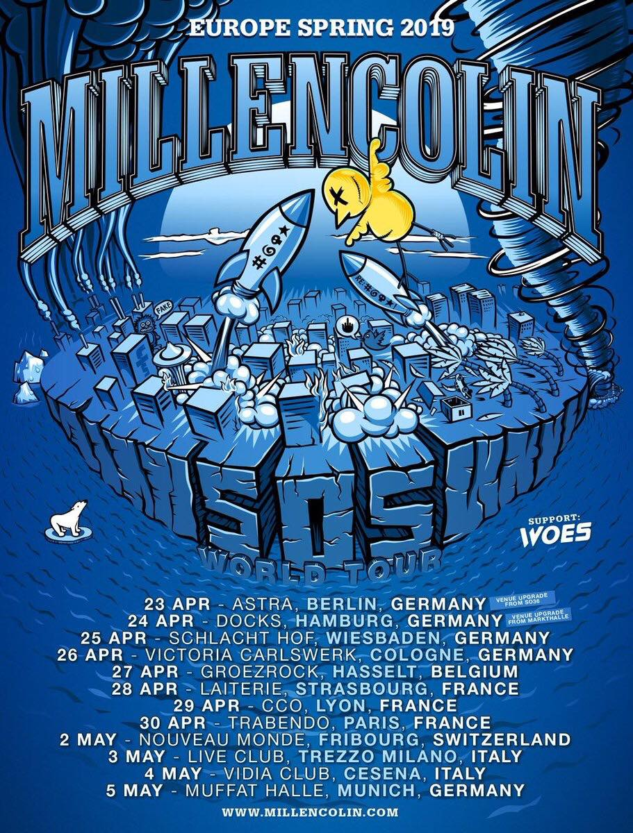 millencolin woes europe spring tour 2019 alternative live mediatone lyon kinda agency