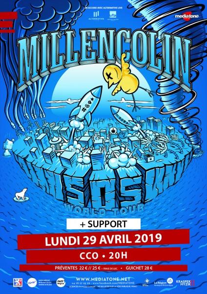 millencolin woes Europe spring tour 2019 alternative live mediatone Lyon KINDA agency