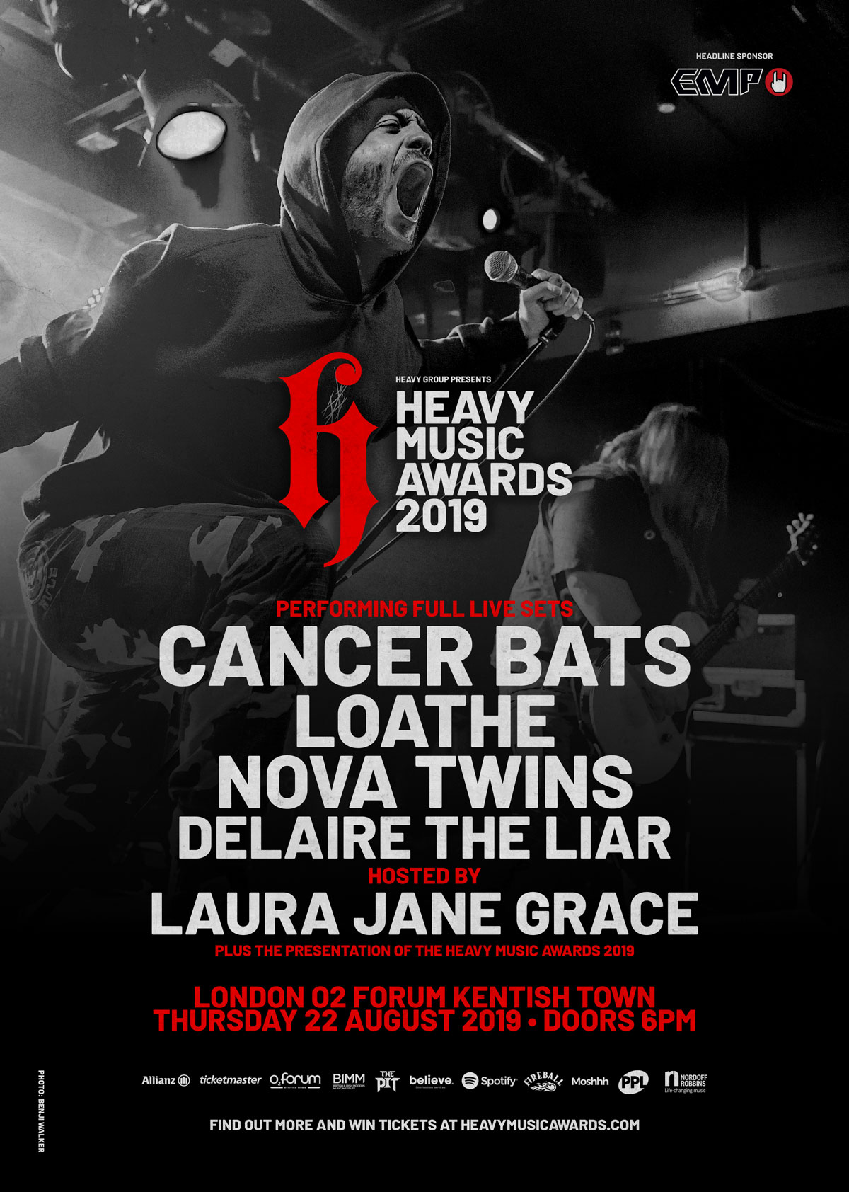 heavy music awards 2019 London O2 forum kentish town