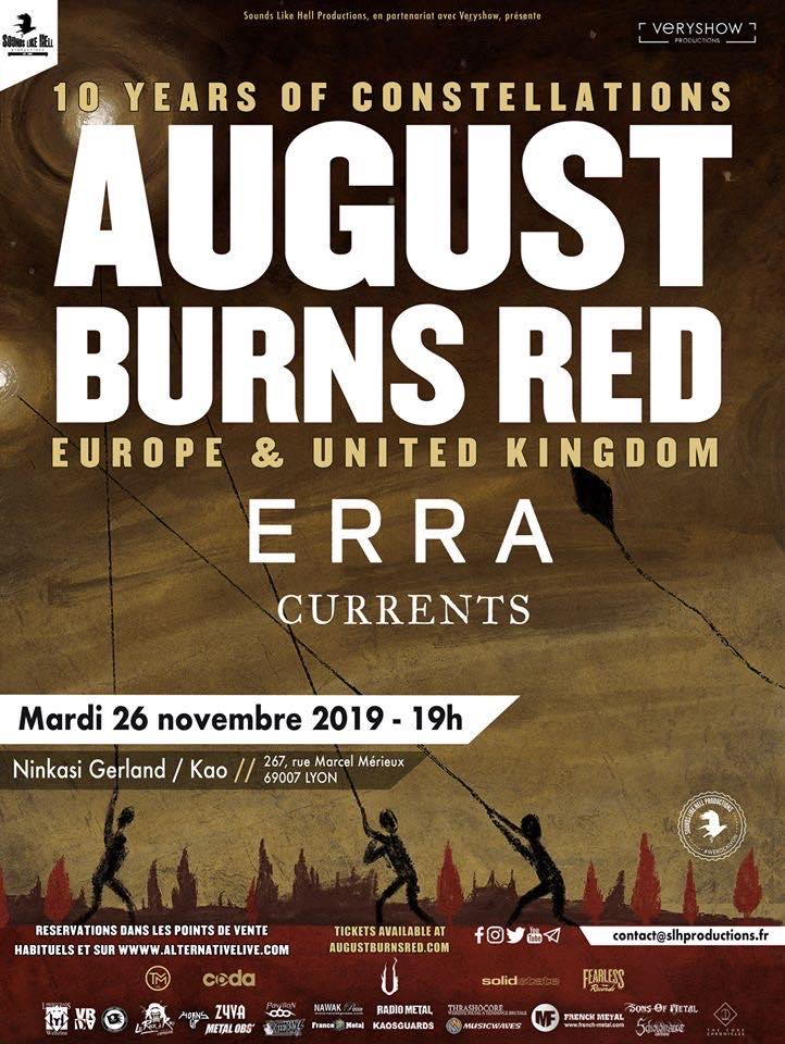august burns red ERRA currents sounds like hell productions veryshow productions ninkasi gerland kao fearless records sharptone records sumerian records